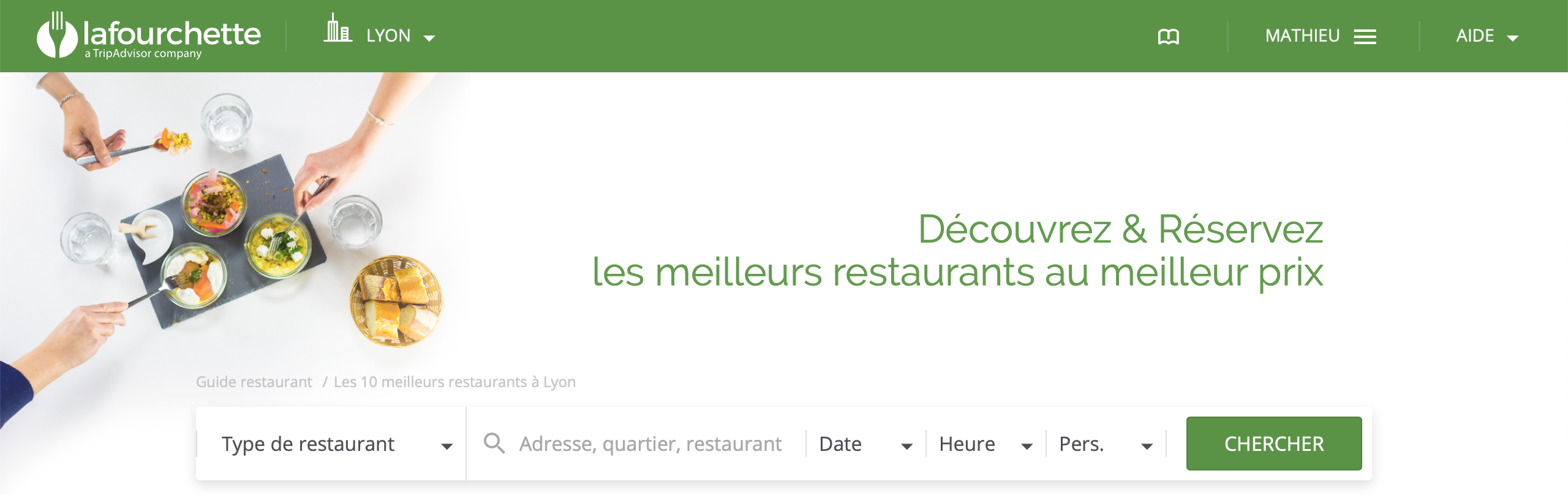 How to book a restaurant in Lyon With LaFourchette (The Fork)